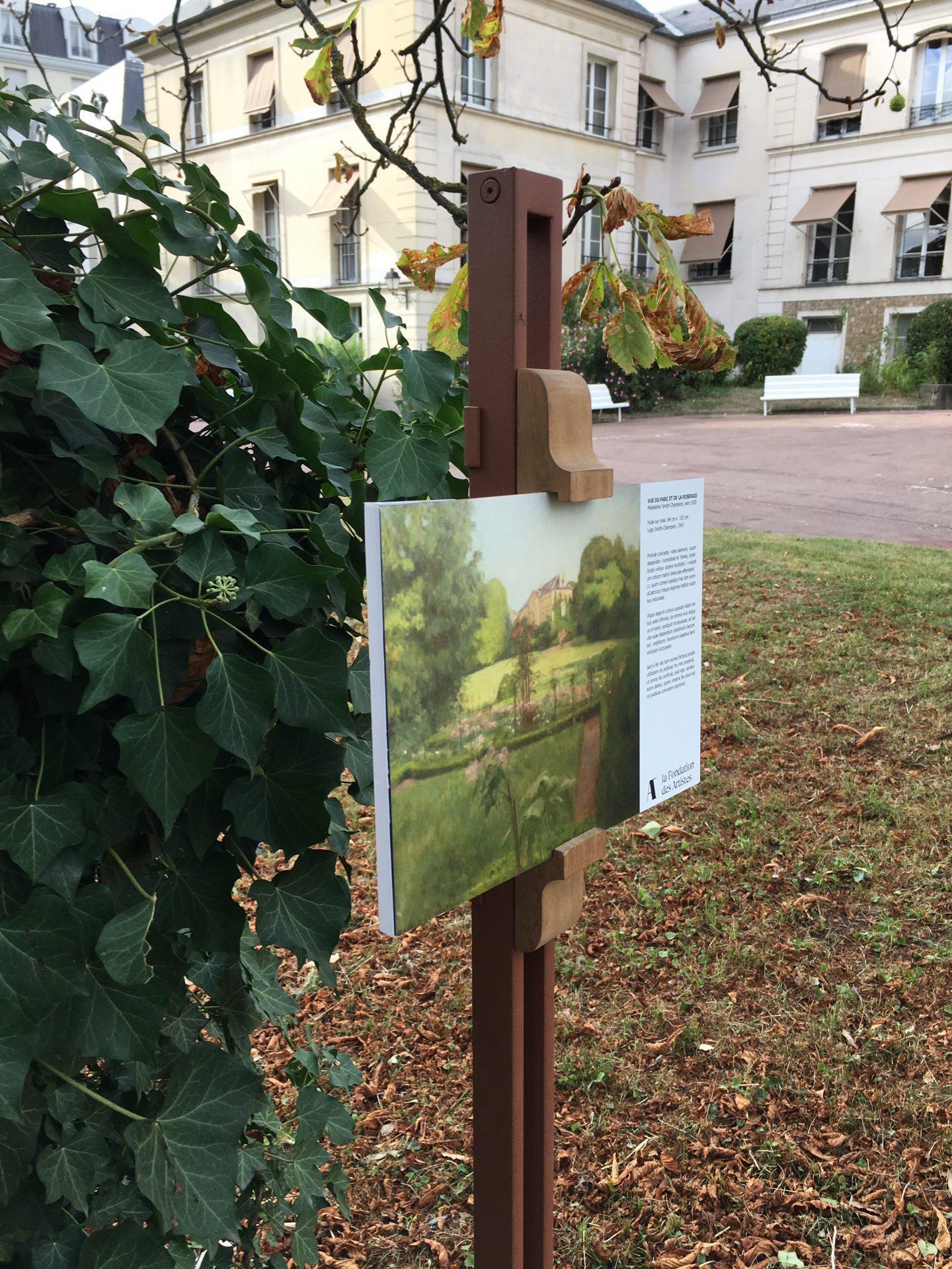 Signalétique du Parc de la Maison des artistes Nogent sur Marne