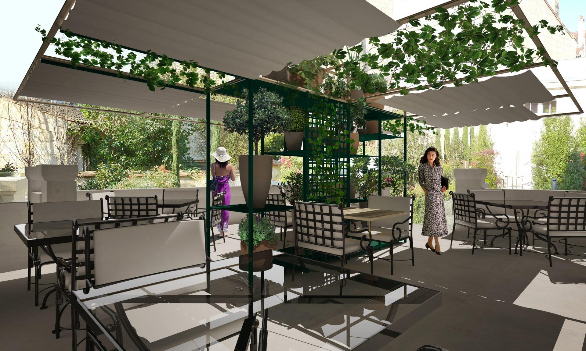 Projet de terrasse restaurant à Bordeaux