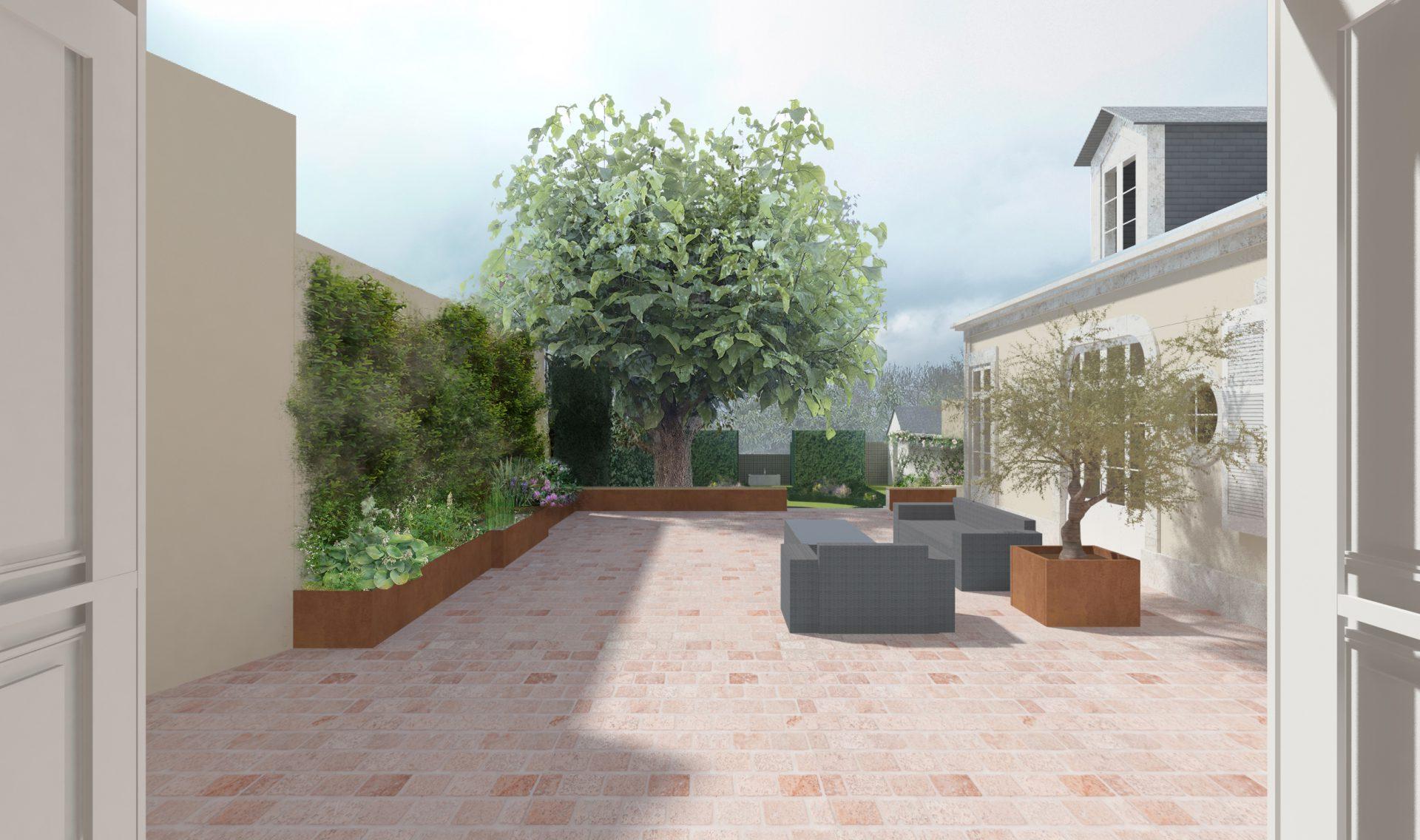 Projet pour un jardin et terrasse en Normandie 2018