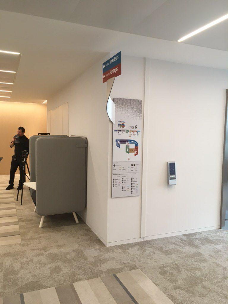 Signalétique des bureaux de la RATP 2020