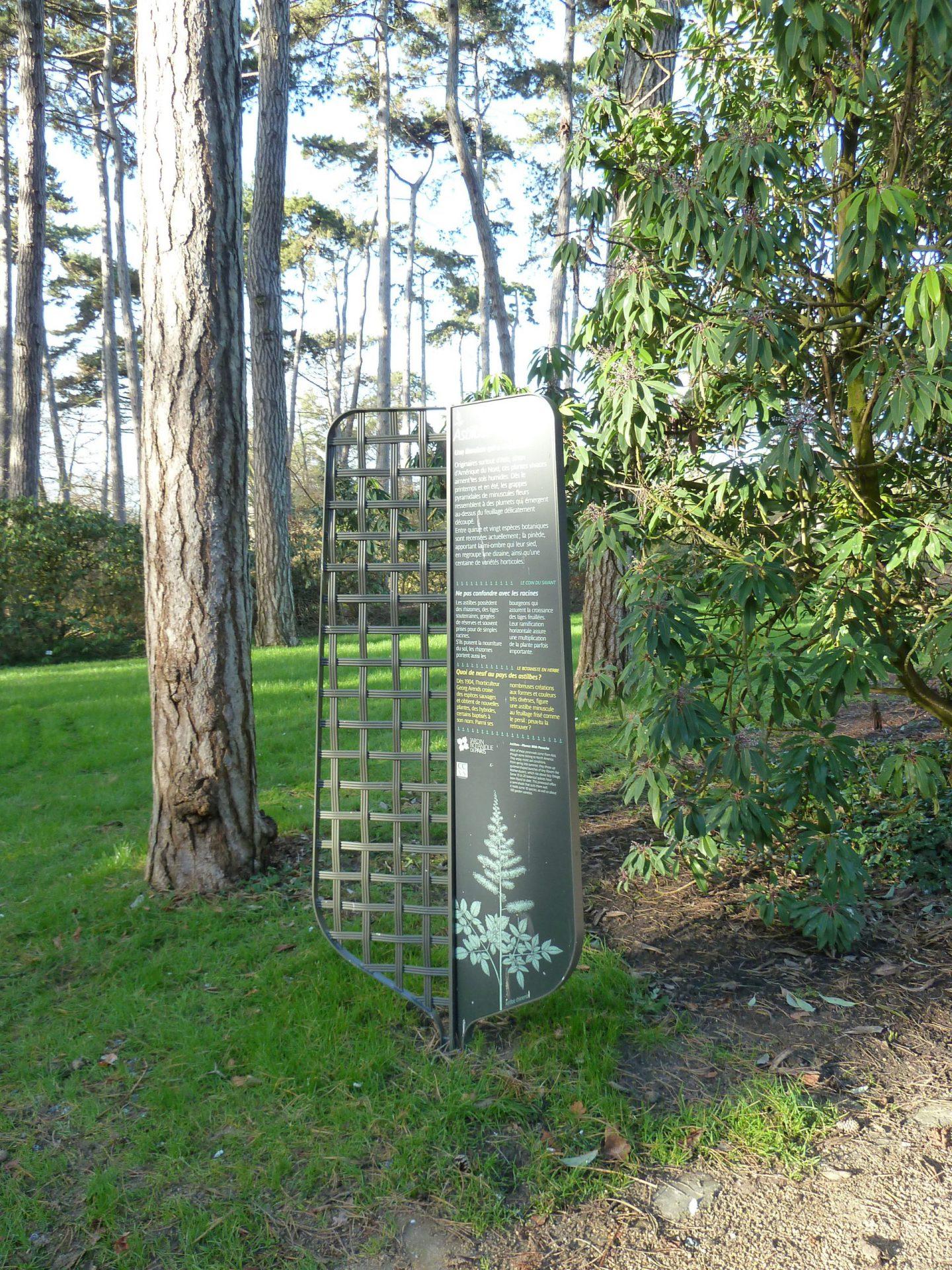 Signalétique du Parc floral de Paris
